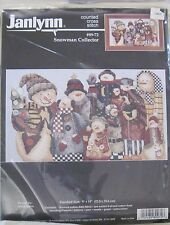 Janlynn Counted Cross Stitch #89-72 Snowman Collector 9X14 Kit S8 F17