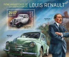 Louis RENAULT CELTAQUATRE ZRD & 4CV Family Car Automobile Stamp Sheet (2014 CAF)