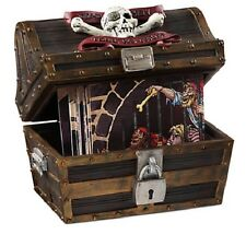 PIRATES OF THE CARIBBEAN Disney Exclusive Treasure Chest/Coaster Set~Movie/Resin