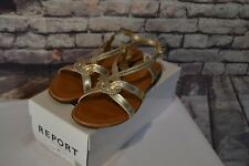Report Gold Sandals - Womens Sz 7.5 - NEW