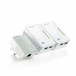 TP-Link TL-WPA4220TKIT AV600 Powerline 300M Wi-Fi Extender with 2 LAN Ports X 3