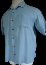 Tommy Bahama Short Sleeve Button Front Silk Embroidered Textured Shirt XL MINT