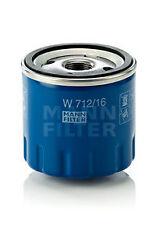MANN-FILTER Oil Filter W712/16 Alfa Romeo 145, 146, 156, GT, Fiat Panda