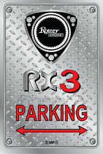 Metal Parking Sign  Rotary Mazda Style RX3 #02 - Checkerplate Look