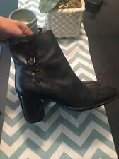 HARLEY DAVIDSON BLACK  MOTORCYCLE HARNESS HIGH HEEL  BOOTS WOMEN USA SIZE 7.5 B