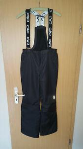 Skihose schwarz mit Trägern Größe176