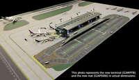 Gemini Jets GJARPTB Airside Landside LED Lighted Airport 1/400 Diecast Terminal