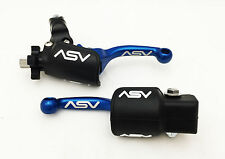 ASV F3 Unbreakable Shorty Blue Brake + Clutch Levers Pair Pack Dust Cover TTR