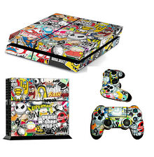 Ps4 skin of STICKER BOMB + lightbar decal free