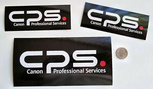 CPS - CANON PROFESSIONAL SERVICES - LOGO  3-DECALS - VERY RARE - DIGITAL CAMERAS