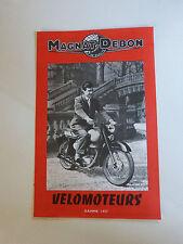 prospectus catalogue moto : MAGNAT DEBON velomoteurs 125cc gamme 1957