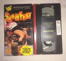 WWF - Slamfest '95 (VHS, 1995) WWE WCW NWO COLISEUM VIDEO OWEN HART BRET HART