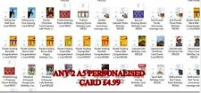 ANY 2 PERSONALISED GREETING CARDS A5 Personalised ANY 2 CARDS RANGE