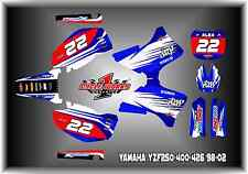 Yamaha YZF250 400 426 98-02  CUSTOM two two  GRAPHIC KITS DECAL