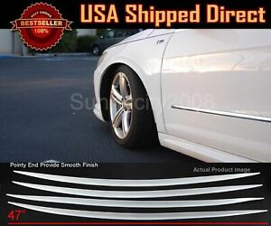 4 Pieces Flexible Slim Fender Flare Lip Extension White Protector Guard For BMW