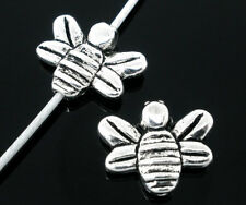 15 SILVER TONE HONEY/BUMBLE BEE CHARM/SPACER BEADS ~14x12mm~Jewellery~Jams (74F)