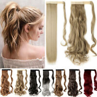 Real New as Human Hair Wrap Around Ponytail Pony Tail Clip On Hair Extensions Js