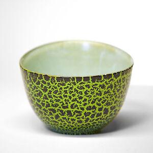 Schüssel Glas recycelt Obstschale Müsli Suppe Schale Glasschale Grün Tisch Deko