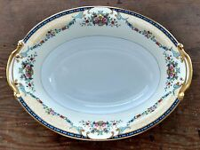 Noritake China Mercedes 9'' Oval Vegetable Bowl Japan Floral Swag Small Chip