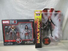 2 VINTAGE MARVEL SELECT SUPER HEROES BLACK WIDOW & THOR TOYS IN GREAT CONDITION