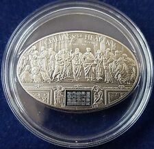 """MDS COOK ISLANDS 5 DOLLARS 2013 """"NANO CHIP RAPHAEL'S ROOMS"""", SILBER"""