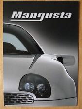 DE TOMASO Mangusta by QVALE brochure 2000 - multi language