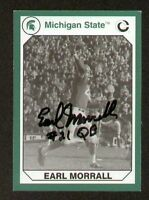 Earl Morrall signed Michigan St. Collegiate Collection