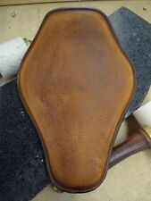 Rich Phillips Leather Snub Brown Chopper Motorcycle Solo Seat Harley Sportster