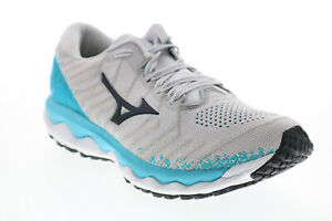 Mizuno Wave Sky FLVR016B023 Womens Grey Mesh Lace Up Athletic Running Shoes 8