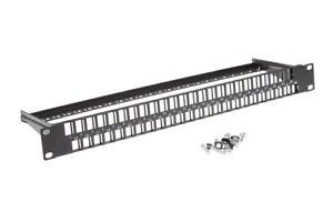 48 Port 1RU Rack Mount Keystone Panel, Lifetime Warranty