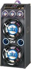 QFX SBX-412207BTBL Bluetooth Speaker with Built-in Amplifier, Blue