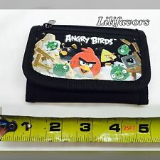 (1) PCS Angry Birds Black Tri-Fold Wallet