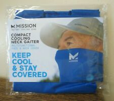 New! MISSION Compact Cooling Neck Gaiter Face/Neck Cover/Mask - BLUE (8274)