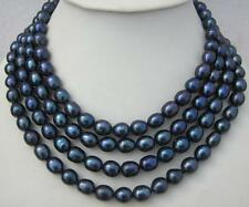 100 INCH HOT HUGE AAA 10-12MM SOUTH SEA BLACK PEARL NECKLACE 14K GOLD CLASP