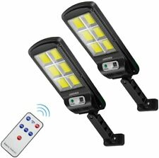 100 LEDs Solar Street Lights Outdoor Flood Light Motion Sensor Security Light