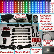 Million Color Smd 5050 Led Neon Golf Cart Lights Kit 6 Tubes Wireless Remote M36