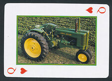 John Deere tractor playing card single swap queen of hearts - 1 card