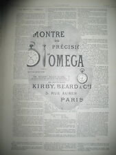PUBLICITE DE PRESSE OMEGA MONTRE DE PRECISION KIRBY BEARD & C° FRENCH AD 1901