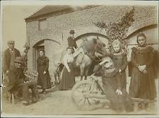 Belgique, Scène de Vie, Photo de famille  Vintage citrate print Tirage citra