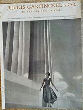 1954 Julius Garfinkel & Company Ceil Chapman women's dress fashion ad
