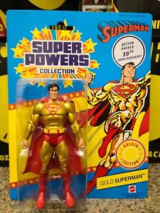 Mattel DC Classics Super Powers Collection 30th Gold Superman Matty Collector