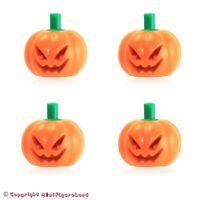 NEW * RARE LEGO PUMPKIN BUCKET PAIL ~ Orange Halloween Minifigure Black Handle