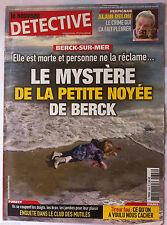 DETECTIVE du 27/11/2013; Fillette de Berck/ Alain Delon, le crime qui l'a fait p