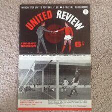 Manchester United Programme No. 3 v Newcastle United 3/9/1966