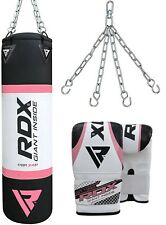 RDX Sac de Frappe Femme Punching MMA Muay Thai Kickboxing Boxe Chaine Bag F