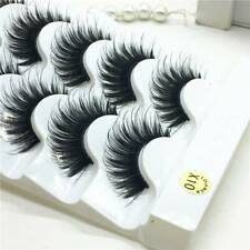 5 Pairs 3D Mink False Eyelashes Wispy Cross Long Thick Soft Fake Eye Lashes
