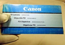 Canon Fd Lens Instructions Accessory Guide English 60 pages En D F Sp