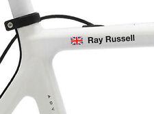 6 Personalizzata Nome Adesivi telaio della bicicletta o CASCO Decalcomanie Wiggo CASCO CICLO