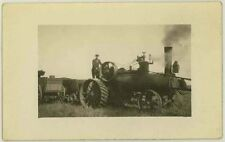 1910 era Large farming tractor RPPC #2