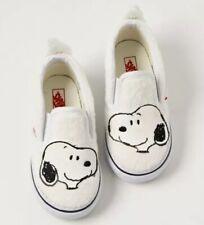 Vans x Toddler Classic Slip On Snoopy True White VN0A32QJQQG Toddler Sz 4.5 New!